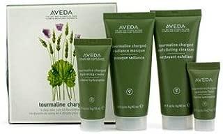 Aveda Tourmaline Charged Starter Set: Exfoliating Cleanser 40ml + Radiance Fluid 7ml + Hydrating Creme 15ml + Radiance Masque 40ml 4pcs