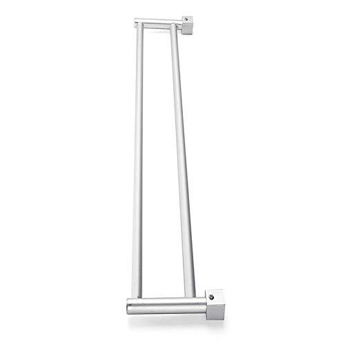 Toallero de 2 barras de espacio de aluminio colgador montado en la pared toalla estante baño o cocina accesorio