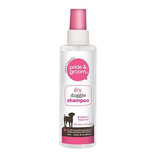 Orgullo & Groom 4 x Champú para perros con aroma a frambuesa perro, perro, cachorro, limpia y acondiciona
