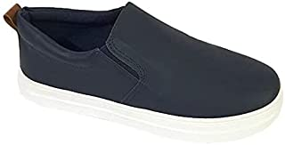 Skippy Contrast Sole Round Toe Pull-on Shoes for Boys - Navy, 31 EU