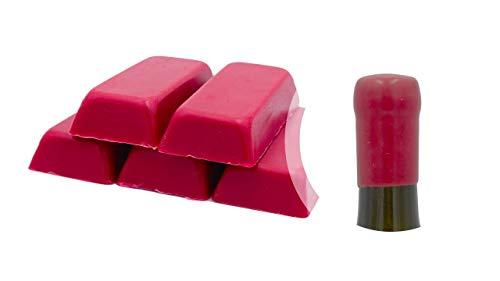 Boîte de 500 g. Gomme laque Bordeaux ou cire souple pour sceller bouteilles de vin, bière, eau-de-vie, liqueur (Bordeaux , 500)