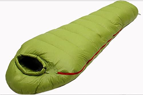 JKXWX Bolsa de Dormir Alta montaña, Ligero Saco de Compresión Ganso Abajo Las 4 Estaciones, Compactos Adultos Camping Festivales Senderismo Trekking