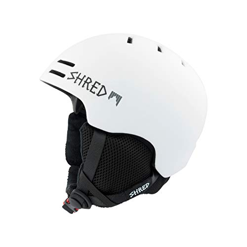 Shred Helm Slam-Cap Warm Snowplough Ski Snowboard, White, L