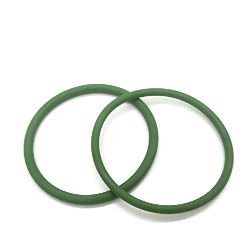 NO LOGO W-NUANJUN-Spring, 2pcs de 5 mm de Espesor Verde FKM O-Ring Seals Gasket 100/105 / 110/115/120/125/130/135/140/145 mm OD fluorados Rubber O Ring Orificio de la arandela (tamaño : 120x110x5mm)