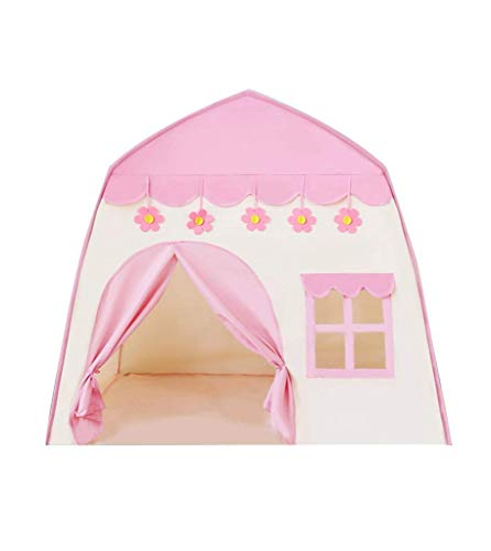 Kids Tent, Tents Infant Game House, Blue Pink Playhouse Tent Multifunctional Happy Tent Girl's Tale Tent Boy's Play Tent - 100 * 130 * 130CM Kids Teepee (Color : Pink, Size : 100 * 130 * 130CM) fashi