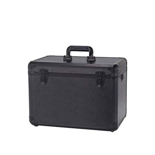 HLD Aluminium gereedschapskist met slot metalen opbergdoos Instrument Display koffer met vakken Toolbox