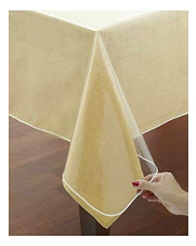 VITA PERFETTA Tovaglia Protettiva PVC Trasparente (140 x 240 cm)