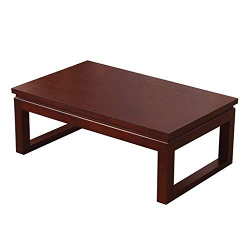 HIGHKAS Holz Couchtisch Mini Couchtisch Kalligraphie Tisch Student Schreibtisch Balkon Couchtisch Laptop Tisch Lerntisch (Farbe: Holzfarbe, Größe: 70x50x30cm)