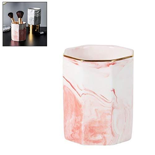 Aufbewahrungsbox für Make-up-Pinsel, nordischer Keramik-Marmorhalter, Stiftespender für Heimdekoration, Zubehör, Dropshipping Heimdekoration (Farbe: 2)