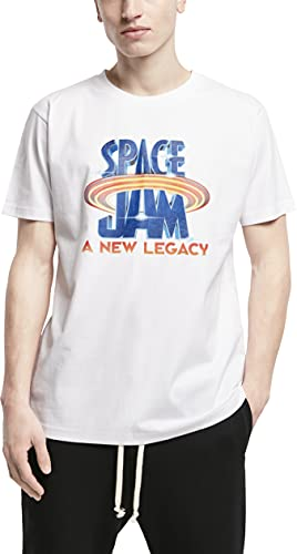 Mister Tee Space Jam Logo tee Camiseta, Blanco, L para Hombre