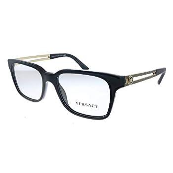 Versace VE 3218 GB1_53 Black Plastic Square Eyeglasses 53mm