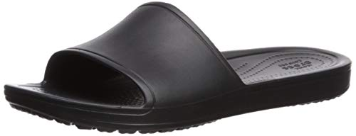 Crocs Sloane Slide Women, Sandalias de Punta Descubierta para Mujer, Negro (Black 001), 36/37 EU