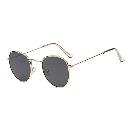 WERERT Sportbrille Sonnenbrillen Metal Round Vintage Sunglasses Women Mirror Classic Retro Street Beat Glasses Men Glasses Driving
