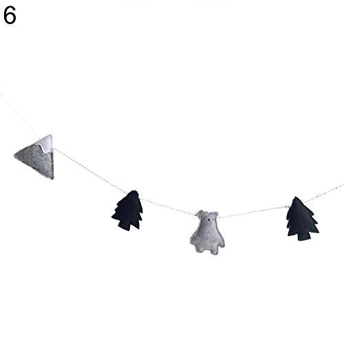 PERIWIN Wimpelkette, nordischer Wolken-Girlande, Banner für Kinderzimmer, Wanddekoration – 5