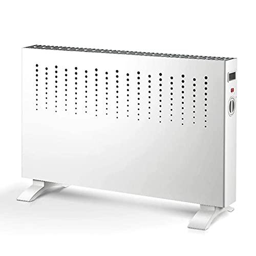 GuoEY Calentador eléctrico, radiador de convección con termostato Ajustable, 2 configuraciones de Calor Ajustables, calefacción eléctrica/por convección/radiador sin Aceite