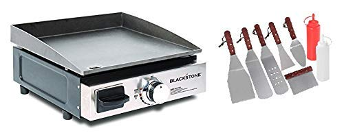 Blackstone. Table Top Grill - 17 Inch Portable Gas Griddle (Propane Fueled) with BBQ Accessories