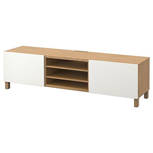 IKEA BESTA - Mueble TV con efectos cajones de roble / blanco...