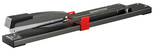 Bostitch Anti-Jam Long Reach Stapler, 20 Sheet Capacity, Black (B440LR)