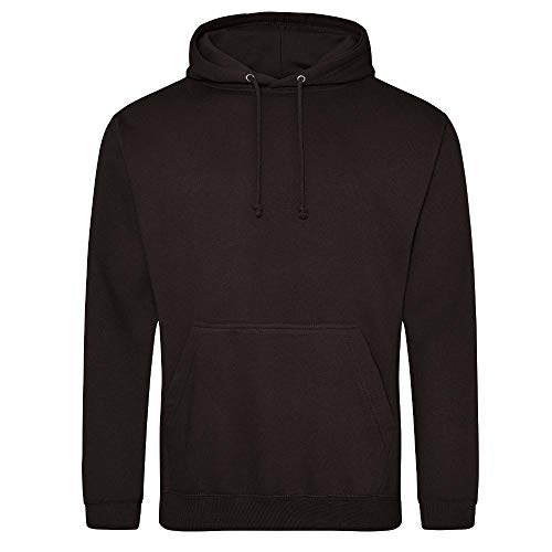Just Hoods College Hoodie, Jet Black, L