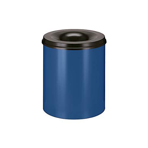 Sicherheitspapierkorb - Inhalt 80 l, Höhe 550 mm - kobaltblau