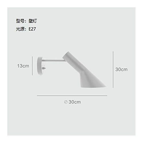 MUYANDZ lampadaire Diseño nórdico Arne Jacobsen Lámpara LED E27 Lámpara de pie iluminación Blanca Negro (Lampshade Color : White Wall Lamp)