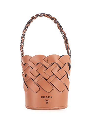 Luxury Fashion | Prada Dames 1BE0492DI4F0XKV Bruin Leer Handtassen | Lente-zomer 20