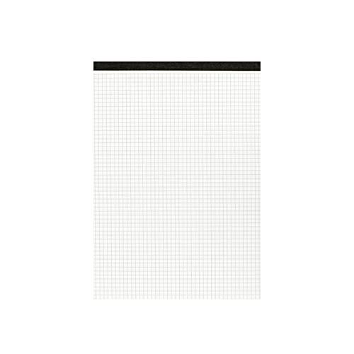 Landre 100050632 - Blocco senza copertina in carta riciclata, DIN A4, a quadretti, 60 g/m², 10 pezzi, 50 fogli