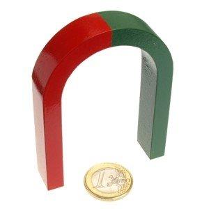 Hufeisen Magnet 80 x 60 x 15 mm rot/grün AlNiCo von magnet-shop