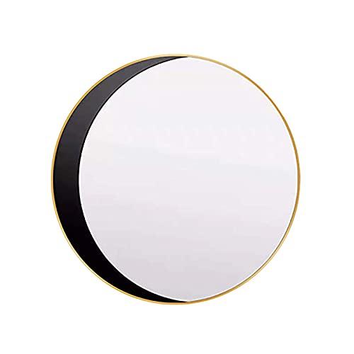 ZCYXQR Espejo Circular de Pared para baño Espejo Circular de Pared con Marco de 50 cm, para baño, Salas de Estar, entradas