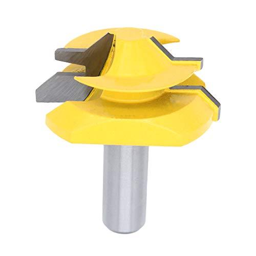 Yuhtech Verleimfräser Gehrung Verleimfräser Oberfräse 45 Grad 2 Zoll Durchmesser 1/2 Schaft Holz Cutter für Holzbearbeitung Bohren Elektrowerkzeuge
