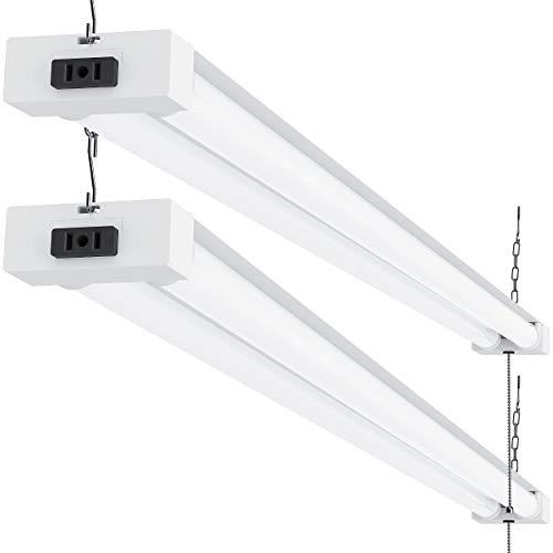 Sunco Lighting 2 Pack LED Utility Shop Light