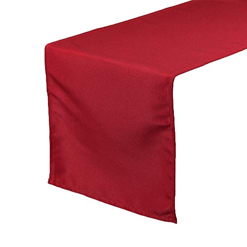 Your Chair Covers - 14 x 108 inch Polyester Table Runner Dark Red, Table Runner for Weddings, Events, Hotels and Catering Services