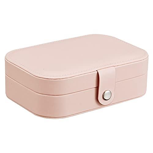 HUIJK Joyero Joyería de joyería Caja de joyería de múltiples cuadrículas de Estilo Simple Maquillaje Organizador Organizador de joyería Belleza Caja de Viaje Pantalla de Almacenamiento Cajas