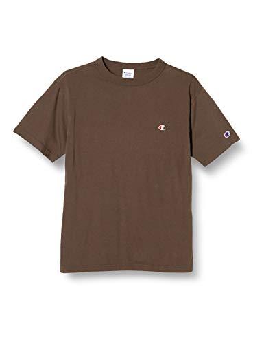 [チャンピオン] Tシャツ 半袖 綿100% 定番 ワンポイントロゴ刺繍 ショートスリーブTシャツ C3-P300 メンズ ブラウン S