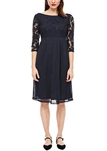 s.Oliver Damen 120.12.003.20.200.2038649 Kleid für besondere Anlässe, Navy, 42