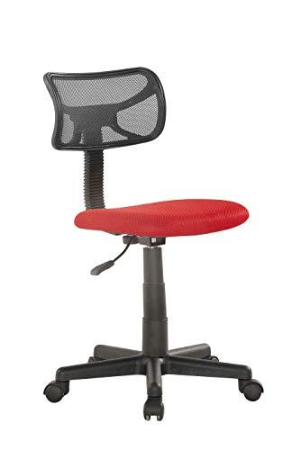 Studio Decor Sof06 Bureaustoel, zonder armleuningen Eén maat Rood-Zwart