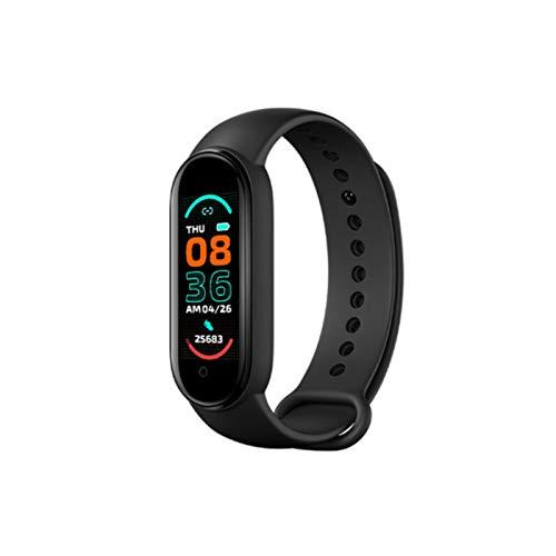 M6 Smart Fitness Tracker Bluetooth Actividad Tracker con monitor de presión arterial/ritmo cardíaco, impermeable multifuncional Smart Band pulsera para deportes mujeres hombres