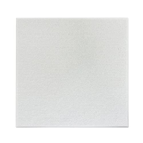 YMQ Paquete De 10 Paneles De Espuma Acústica 11.8'x11.8' x 0.4'Panel De Absorción De Alta Densidad De Alta Densidad Baldosas De Pared De Borde Biselado para Tratamiento Acústico(Color:Blanco)