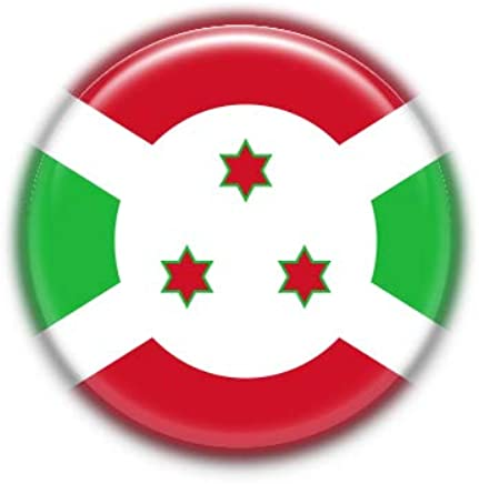 Burundi : Bandera Nacional, Pinback Button Badge 1.50 Inch (38mm)