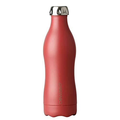 Dowabo Trinkflasche Earth Collection - Kohlensäuredichte Edelstahl Isolierflasche BPA-Frei - 12H heiß / 24H kalt - 500/750 ml (Berry, 500 ml)