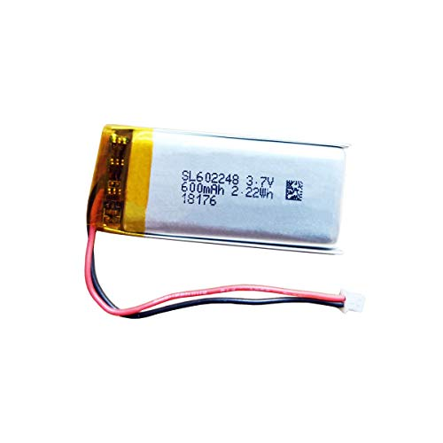 602248 Battery, 3.7V Lithium Battery 600mAh Replacement for Sena SMH10 Motorcycle Bluetooth Headset/Intercom Built-in Battery
