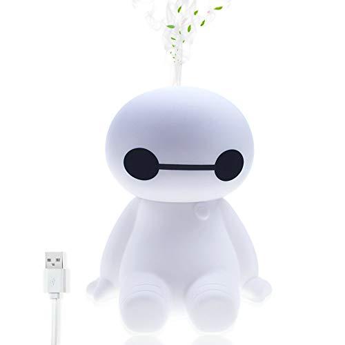 Niebla Fresca Mini Humidificador USB Powered Portátil Susurro Purificador de aire Difusor 120ml con LED Luz para coche, Al aire libre, Habitación de bebé, Viajar, Interior, Oficina, Hogar (Blanco)