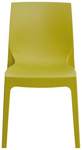 Grandsoleil Boheme Roma Greenpol sedia impilabile, verde polimerico, anice verde, 54x 52x 81cm