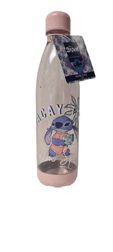 Disney Lilo & Stitch - Botella de agua potable para correr, deportes, gimnasio, portátil, sin BPA, capacidad de 1 L