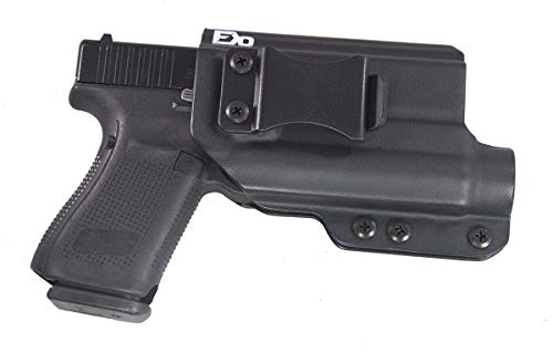 Fierce Defender TLR1 Compatible Glock 19 23 32 IWB Kydex Holster The Winter Warrior Series -Made in USA- GEN 5 Compatible (Black)