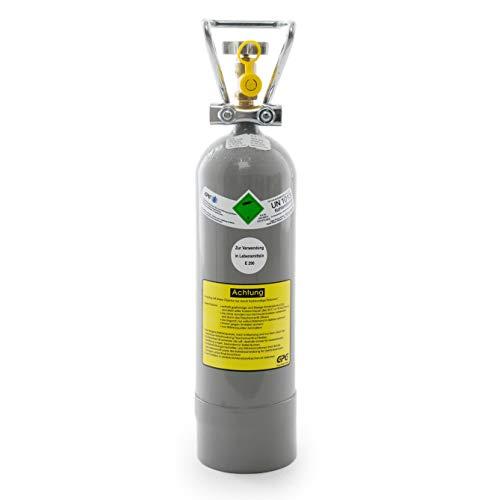 2 kg Kohlensäure Flasche für Getränkesysteme/Gasflasche gefüllt mit 2 kg Kohlensäure (CO2) / Lebensmittelqualität nach E290 / NEUE Eigentumsflasche / 10 Jahre TÜV/Made in Germany