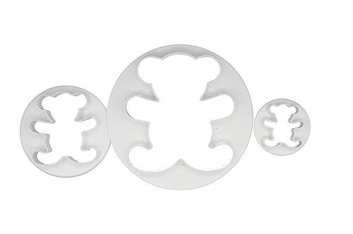 DeColorDulce Ours Set emporte-pièces, Blanc, 28 x 10 x 5 cm, Lot de 3