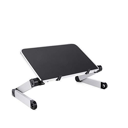 YUZZZKUNHCZ BJBZJ - Soporte ergonómico para ordenador portátil de 11 a 17 pulgadas, ajustable de 360 grados, portátil, mesa plegable y soporte para cama, color negro