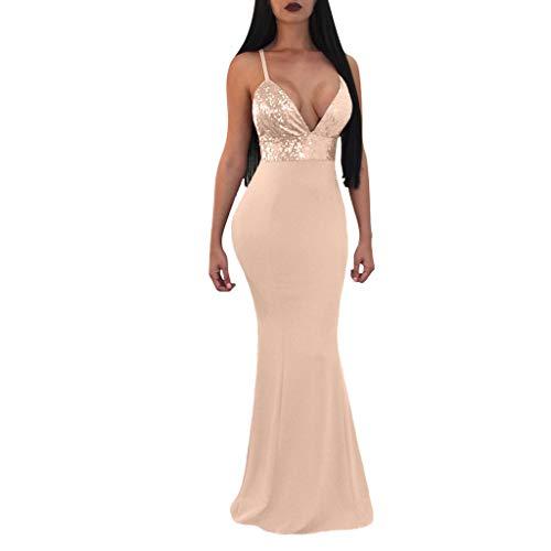 MAYOGO Spöbal klänningar spaghetti glänsande cocktailklänning för bröllopsgäst, golvlängd elegant ädel sjöjungfru bodycon klänning glitter balklänning aftonklänning för damer bröllop fest cocktailparty