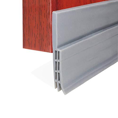 EXTSUD Selbstklebende Tür Türdichtung Dichtungsstreifen Zugluftstopper gegen Insekt Ersatzdichtung Wetterfest Blocker Schalldichtung Silikon Türstopper 100 * 5cm (1M Grau)